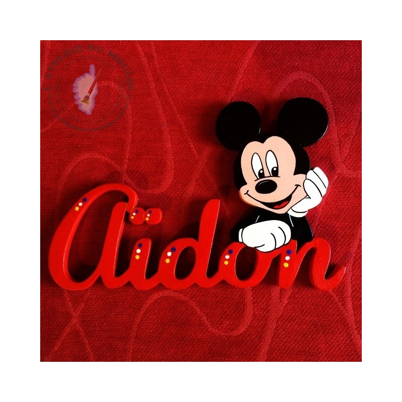 Prénom décoré avec Mickey