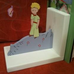 """""""On ne voit bien qu'avec le coeur !""""  Serre-livres Petit Prince   avec la rose, le mouton et le renard"""