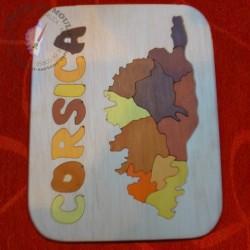 Puzzle tableau avec les régions de Corse