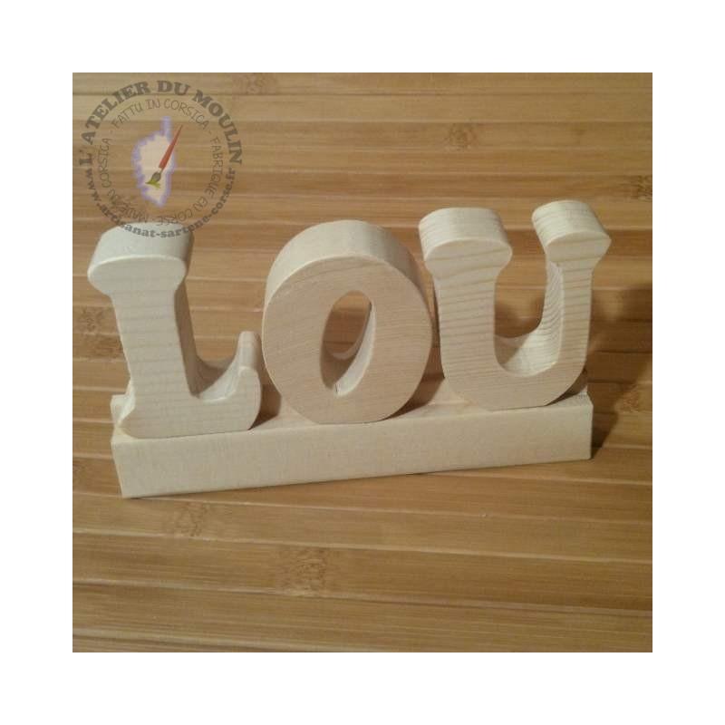 Lettres sur glissière pour composer son prénom ou apprendre les lettres !