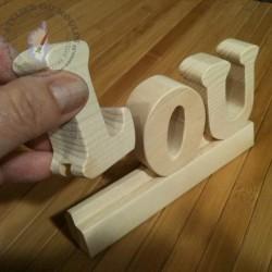 Lettres sur glissière LOU le l arrive