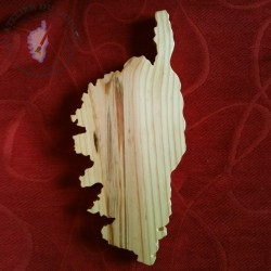 Planche à découper ou dessous de plat CORSE Nourrie et protégée à l'huile d'olive corse avec ou sans cordon d'attache