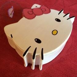 Boîte en bois Hello Kitty profil