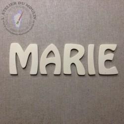 Lettres en bois naturel à peindre ou à décorer  Plusieurs hauteurs possibles : 3 cm - 5 cm - 7 cm - 10 cm