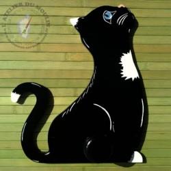 Porte manteau chat noir Parce que tes habits traînent partout