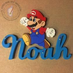 Mario prénom décoré Jeu Nintendo