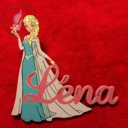Prénom décoré Elsa LA REINE DES NEIGES
