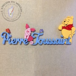 Prénom décoré avec Winnie...