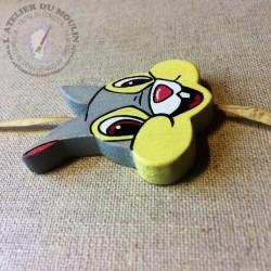 Perle en bois de hêtre PAN PAN pour personnaliser les attaches tétines