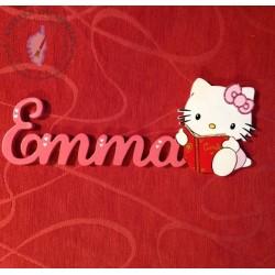 PRENOM DECORE AVEC HELLO KITTY et son livre